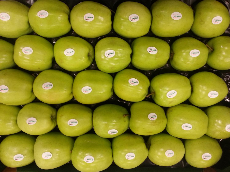 0 Golden Delicious skrzynka  drewniana 13 kg stickery Applex GŁÓWNE